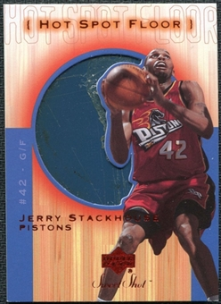 2001/02 Upper Deck Sweet Shot Hot Spot Floor #JSF Jerry Stackhouse