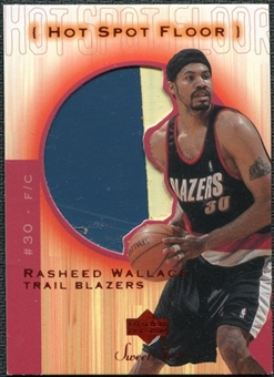 2001/02 Upper Deck Sweet Shot Hot Spot Floor #RWF Rasheed Wallace