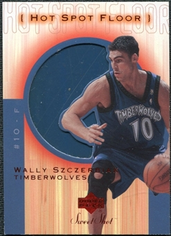2001/02 Upper Deck Sweet Shot Hot Spot Floor #WSF Wally Szczerbiak