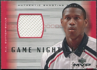 2001/02 Upper Deck MVP Game Night Gear #AJG A.J. Guyton