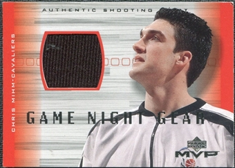 2001/02 Upper Deck MVP Game Night Gear #CMG Chris Mihm