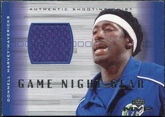 2001/02 Upper Deck MVP Game Night Gear #DHG Donnell Harvey