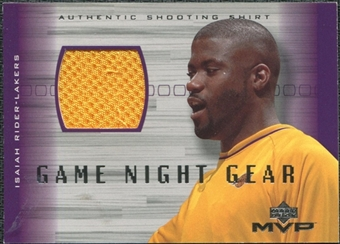 2001/02 Upper Deck MVP Game Night Gear #IRG Isaiah Rider