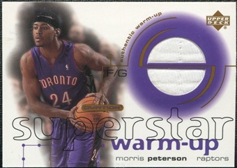 2001/02 Upper Deck Ovation Superstar Warm-Ups #MP Morris Peterson