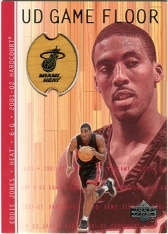 2001/02 Upper Deck Hardcourt UD Game Floor #EJ Eddie Jones