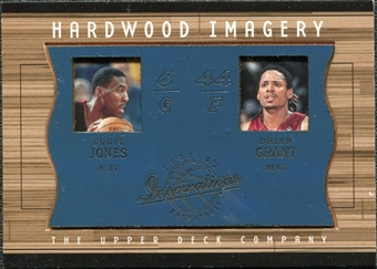 2001/02 Upper Deck Inspirations Hardwood Imagery Combo #EJ/BG Eddie Jones Brian Grant