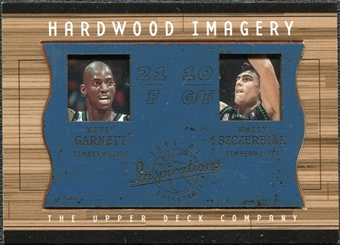2001/02 Upper Deck Inspirations Hardwood Imagery Combo #KG/WS Wally Szczerbiak Kevin Garnett