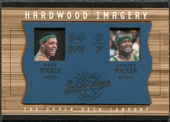 2001/02 Upper Deck Inspirations Hardwood Imagery Combo #PP/AW Antoine Walker Paul Pierce