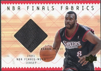 2001/02 Upper Deck NBA Finals Fabrics #AMF Aaron McKie