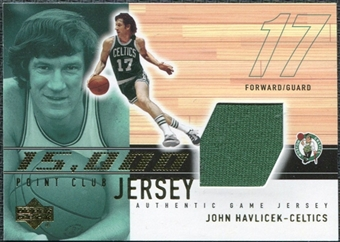 2001/02 Upper Deck 15000 Point Club Jerseys #JH15K John Havlicek