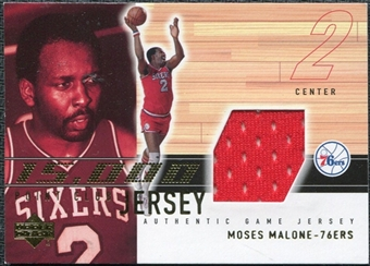 2001/02 Upper Deck 15000 Point Club Jerseys #MM15K Moses Malone