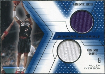 2001/02 Upper Deck SPx Winning Materials #AI Allen Iverson Jersey / Shorts