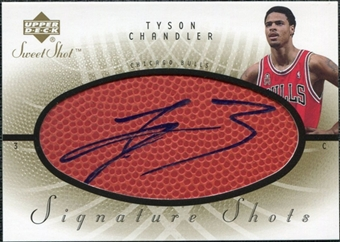 2002/03 Upper Deck Sweet Shot Signature Shots #TC Tyson Chandler Autograph