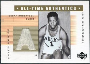 2002/03 Upper Deck Generations All-Time Authentics #ORA Oscar Robertson