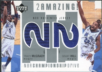 2002/03 Upper Deck Championship Drive 2 Amazing Jerseys #TMGHJ Tracy McGrady Grant Hill