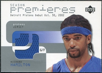2002/03 Upper Deck Season Premier Jerseys #RHP Richard Hamilton