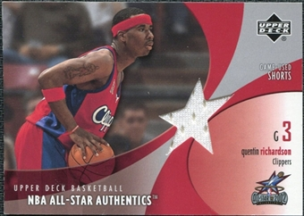 2002/03 Upper Deck All-Star Authentics Shorts #QRAS Quentin Richardson