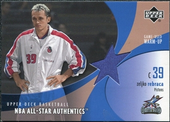 2002/03 Upper Deck All-Star Authentics Warm-Ups #ZRAW Zeljko Rebraca