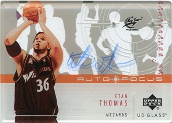 2002/03 Upper Deck UD Glass Auto Focus #ET Etan Thomas Autograph