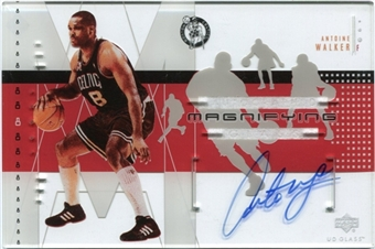 2002/03 Upper Deck UD Glass Magnifying Glass Autographs #AWA Antoine Walker /84