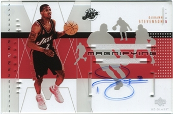 2002/03 Upper Deck UD Glass Magnifying Glass Autographs #DSA DeShawn Stevenson