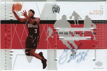 2002/03 Upper Deck UD Glass Magnifying Glass Autographs #GWA Gerald Wallace