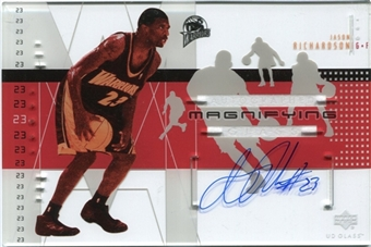 2002/03 Upper Deck UD Glass Magnifying Glass Autographs #JRA Jason Richardson