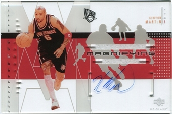 2002/03 Upper Deck UD Glass Magnifying Glass Autographs #KMA Kenyon Martin