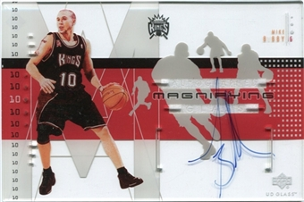 2002/03 Upper Deck UD Glass Magnifying Glass Autographs #MBA Mike Bibby