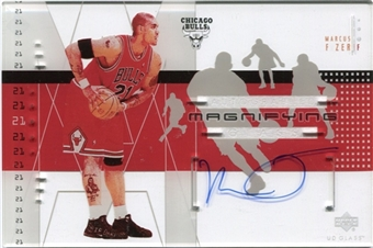 2002/03 Upper Deck UD Glass Magnifying Glass Autographs #MFA Marcus Fizer
