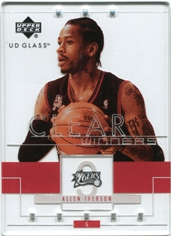 2002/03 Upper Deck UD Glass #96 Allen Iverson Clear Winners