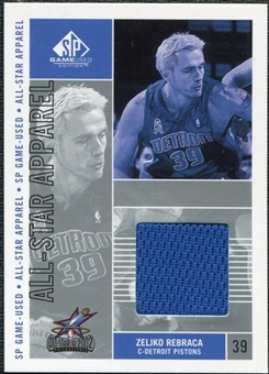 2002/03 Upper Deck SP Game Used All-Star Apparel #ZRAS Zelijko Rebraca