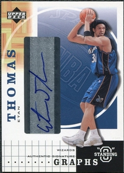 2003/04 Upper Deck Standing O Graphs #ET Etan Thomas Autograph
