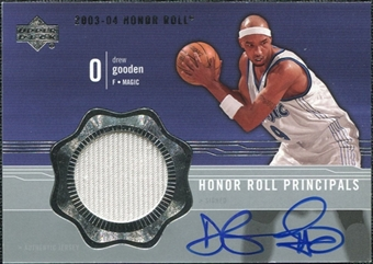 2003/04 Upper Deck Honor Roll Principals #DG Drew Gooden Autograph