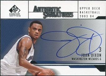 2003/04 Upper Deck SP Signature Edition Signatures #JD Juan Dixon Autograph