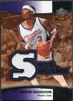 2004/05 Upper Deck Sweet Shot Swatches #QR Quentin Richardson