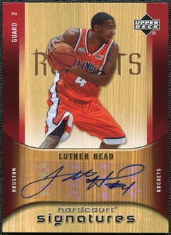 2005/06 Upper Deck Hardcourt Signatures #LH Luther Head Autograph
