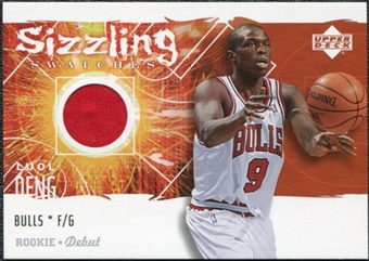 2005/06 Upper Deck Rookie Debut Sizzling Swatches #LD Luol Deng
