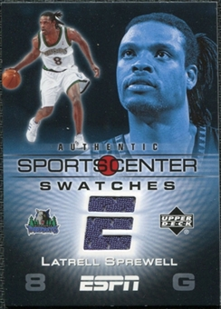 2005/06 Upper Deck ESPN Sports Center Swatches #LS Latrell Sprewell