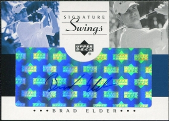 2002 Upper Deck SP Game Used Signature Swings #BE Brad Elder Autograph