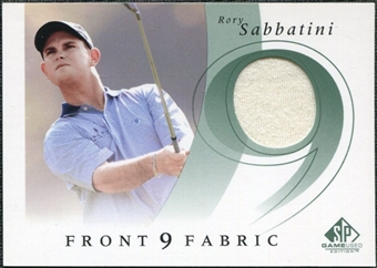 2002 Upper Deck SP Game Used Front 9 Fabric #RS Rory Sabbatini