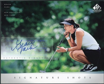 2004 Upper Deck SP Signature Shots 8 x 10 #GP Grace Park Autograph
