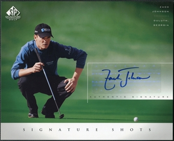 2004 Upper Deck SP Signature Shots 8 x 10 #ZJ Zach Johnson Autograph