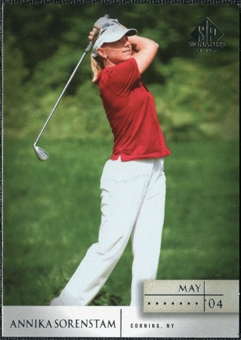 2004 Upper Deck SP Signature #30 Annika Sorenstam