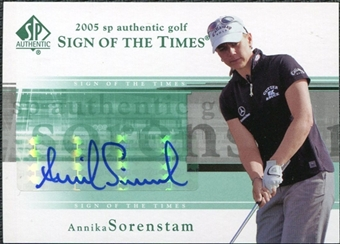 2005 Upper Deck SP Authentic Sign of the Times Single #AS Annika Sorenstam Autograph