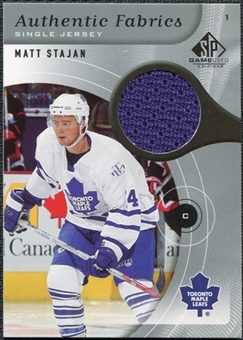2005/06 Upper Deck SP Game Used Authentic Fabrics #AFST Matt Stajan