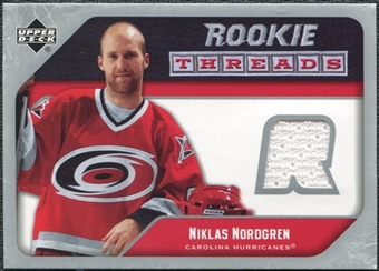 2005/06 Upper Deck Rookie Threads #RTNN Niklas Nordgren