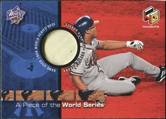 2000 Upper Deck HoloGrFX A Piece of the Series #PS6 Andruw Jones