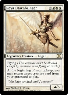 Magic the Gathering 10th Edition Single Reya Dawnbringer LIGHT PLAY (NM)