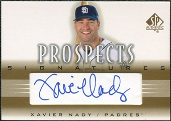 2002 Upper Deck SP Authentic Prospects Signatures #PXN Xavier Nady Autograph